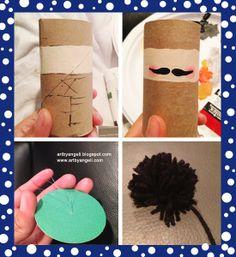 artbyangeli DIY nutcracker ornament out of toilet paper roll.