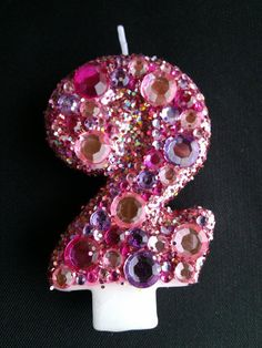 glamour princess 2nd Birthday candle by LittleMissMraz on Etsy, $12.00