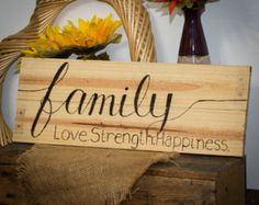 Family sign Gift for family Gift for parents by SimplyPallets