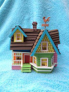 Disney Pixar UP Carl and Ellie Fredricksen's House Floating model for decoration figurine