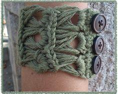 Crochet Pattern Autumn bracelet pattern Permission by MissCro