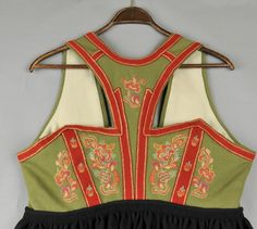 DigitaltMuseum - Vest Telemark Bunad Folk Costume, Costumes, Going Out Of Business, Color Shapes, Traditional Outfits, Norway, Machine Embroidery, Vest, Tank Tops