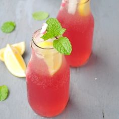 Pink Lemonade by usmasala: Gorgeous and refreshing with a surprise of cranberry juice! #Lemonade #usmasala