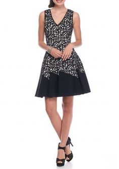 5b0667b5 Xscape BlackStone Laser Cut Fit and Flare Dress Fit and flare dresses 2018  Scuba Dress,