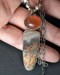 Prudent Man Agate and Sunstone by Simply_Adorning, via Flickr