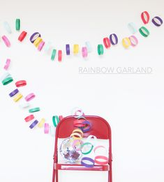 rainbow paper garland - A Subtle Revelry