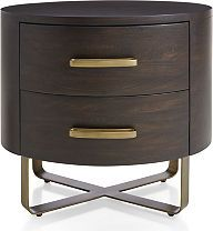 Gwen Wood And Metal Nightstand Metal Nightstand Crate And Barrel Crates