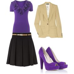 teacher clothes purple and beige anyone wishing to buy it for me.... be my guest!