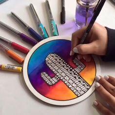Art Drawings Sketches Simple, Colorful Drawings, Sharpie Art, Sharpie Markers, Paint Markers, Dibujos Zentangle Art, Mandala Art Lesson, Doodle Art Designs, Doodle Art Drawing