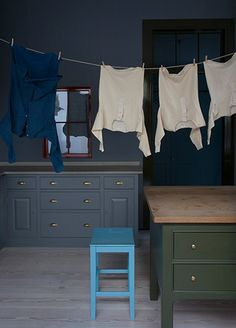 Plain English Bespoke Handmade Colour 2 Available to clients only :( love dark walls and lighter floor. high ceiling helps
