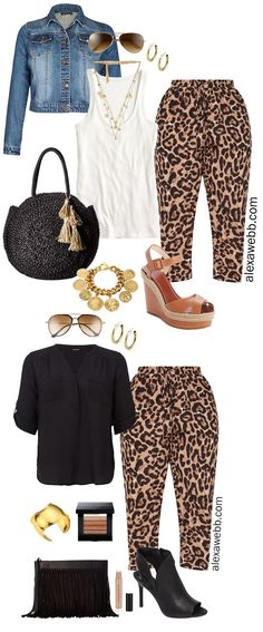 Plus Size Leopard Pants Outfit Ideas - Date Night & Casual Looks - Plus Size Fashion for Women - alexawebb.com #plussize #alexawebb Plus Size Fashion For Women, Trendy Clothes For Women, Plus Size Women, Trendy Outfits, Plus Size Kleidung, Look Plus Size, Dress Up, Neue Outfits, Animal Prints
