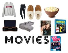 """movie night"" by livgirl-10 ❤ liked on Polyvore featuring H&M, NIKE, UGG, BDI and Gus* Modern"