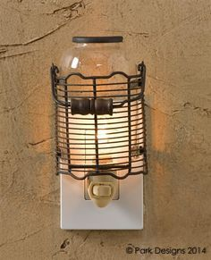 Kitchen Wire Jar Night Light from Country Porch Home Decor..... Farmhouse cute....