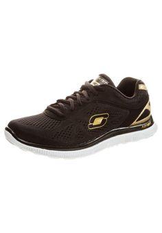 #SKECHERS #Damen #Sneaker #schwarz - Lässiger Trainingsschuh mit super  leichter und flexibler Skech-Flex Laufsohle. Das Fußbett ist mit einer  beson…