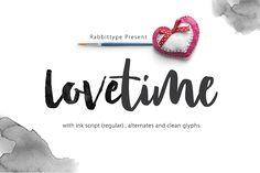 Lovetime | FREE Handlettered Brush Font