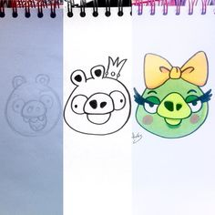 Making of #BadPiggies from #AngryBirds  #pig #pigs #piggies #smartphone #app #process #pencil #fanart #illustration #draw #sketch #drawing #art #artistsoninstagram #dailysketch  #traditional #traditionalart #markers #ink  #cute #adorable #chibi #kawaii  #gaming #game #videogames