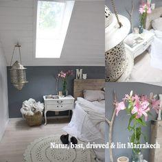 Una encantadora habitación con elementos reciclados.