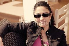 Casual Caucasian Woman stock photo at Fotolia