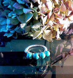 Hey, I found this really awesome Etsy listing at https://www.etsy.com/listing/199665709/turquoise-wired-wrapped-ring-size-812