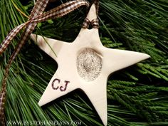 Make Your Own Cherished Children's Fingerprint Ornaments from Clay - bystephanielynn