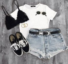 cute summer outfits for college Spring Outfits Teenage Outfits, Cute Teen Outfits, Cute Summer Outfits, Short Outfits, Trendy Outfits, Girl Outfits, Cute College Outfits, Teenager Mode, Pullover Outfit