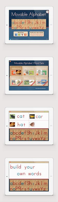 The Movable Alphabet app by Mobile Montessori.