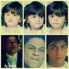 Like father like son. Abram Khan, King Of Hearts, Celebrity Kids, Indian Celebrities, Bollywood Actors, Film Industry, Shahrukh Khan, My King, Dimples