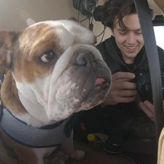 "Cole & @mrbentley_thedog on a helicopter yesterday Via @mrbentley_thedog"""