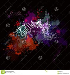 Music Background With Color Stock Vector - Illustration of grungy, abstract: 69486277