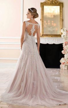 6854ebb514f 6401 - Mimosa - Size 16 - Stella York 6401 Sparkling Silver lace wedding  dress with drop waist and Modified A-line skirt at Blessings Wedding Dress  Boutique ...