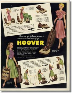 1948 Hoover vacuum cleaners - The name women prefer