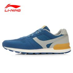 Li-Ning Men's Glory Classic Running Shoes Retro Sneakers Breathable Footwear Cushioning Sports Shoes ARCL013 XYP459
