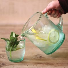 Fresh Recycled Glass Pitcher | dotandbo.com