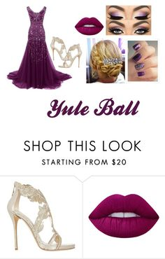"""""""Yule Ball Outfit #2"""" by allystorm7 ❤ liked on Polyvore featuring Oscar de la Renta, Lime Crime, Dorothy Perkins, Prom, harrypotter, formal and yuleball"""