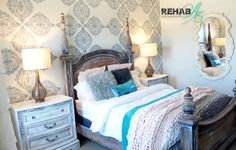 5 piece queen bedroom set REHABBED by Susan Tuthill at REHABArt.com