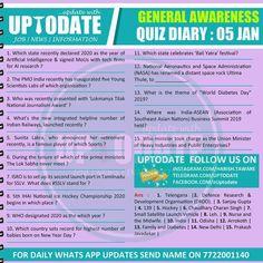 General Awareness #Quizdiary : 05 Jan Als Research, Administrative Work, Digital Media, Nasa, Language, January, Speech And Language, Language Arts
