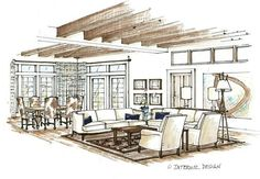 sketch drawing of livingroom - Google Search                                                                                                                                                                                 More