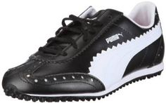 Made from synthetic material with a rubber sole these womens cat golf shoes by Puma offer a money back satisfaction guarantee