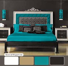 Black and Turquoise Bedroom | Turquoise Bedroom ideas, Seven pictures of…