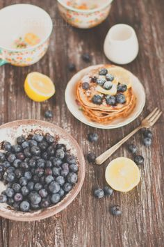 Blueberry Lemon Pancakes | KiranTarun.com