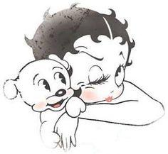 BETTY & HER DOG....