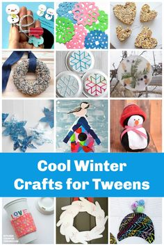 Check out our collection of creative winter crafts for tweens and older kids. A little more challenging for the big kids. #craftsfortweens #wintercrafts #wintercraftsforkids #wintercraftsfortweens #wintercraftsforteens #kitchencounterchronicles Winter Activities For Kids, Toddler Learning Activities, Winter Crafts For Kids, Winter Kids, Preschool Arts And Crafts, Fun Crafts, Holiday Crafts, Crafts For Teens To Make, Craft Projects For Kids