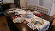 Dining room table - Thanksgiving setup