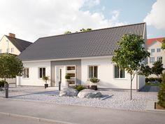 Villa Växa med sadeltak och inredningsbar övervåning från Myresjöhus. En flexibel villa för den växande familjen eller för dig som behöver större ytor.
