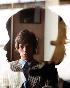 British singer Mick Jagger of the Rolling Stones, United Kingdom, 1966, photograph by Jean-Marie Périer.