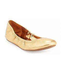 Molly Stretch-Collar Ballet Flats BCBGMaxAzria $75. Not really a ballet flat kinda girl, but these I like!