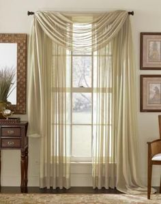 Sheer 3 Piece Window Curtain Set An Easy Way to Add The Finishing Touch to Your Window Treatments. These Sheer 3 Piece Window Curtain Sets are Available in Lengths of 63, 84 and 90 Inches and a Wide a