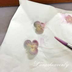 crochet flower colouring
