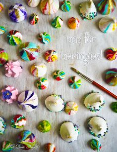 Mad About Meringues! A Tutorial for Circus Striped Meringues & Other Sweet Styles!