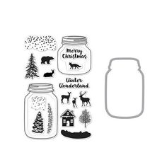 Hero Arts - Die and Clear Acrylic Stamp Set - Winter Scene